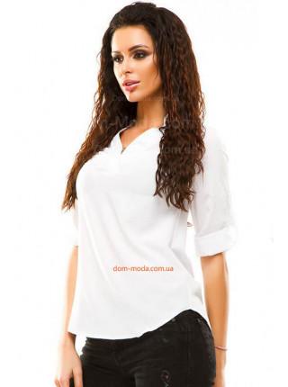 Женская офисная блузка с рукавом большого размера
