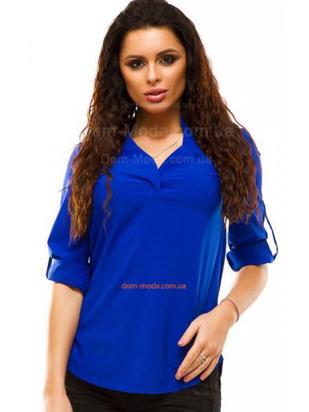 Жіноча офісна блузка із рукавом великого розміру