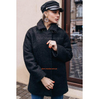 Стильне зимове пальто на холлофайбер великого розміру