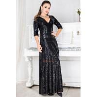 Вечірнє стильне плаття в підлогу и в пайетку великого розміру