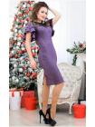 Женское вечернее платье с воланами большого размера