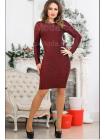 Женское облегающее платье с открытой спиной