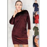 Коротке замшеве плаття для повних дівчат
