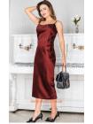 Вечірня сукня міді без рукав