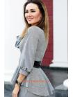 Стильна клітчаста блузка великого розміру