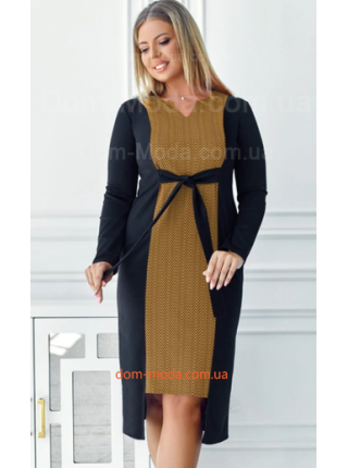 Трикотажное платье для полных