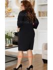 Коротка сукня із кишенями для повних