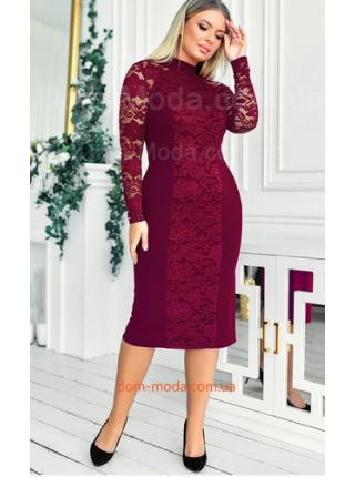 Облегающее вечернее платье для полных
