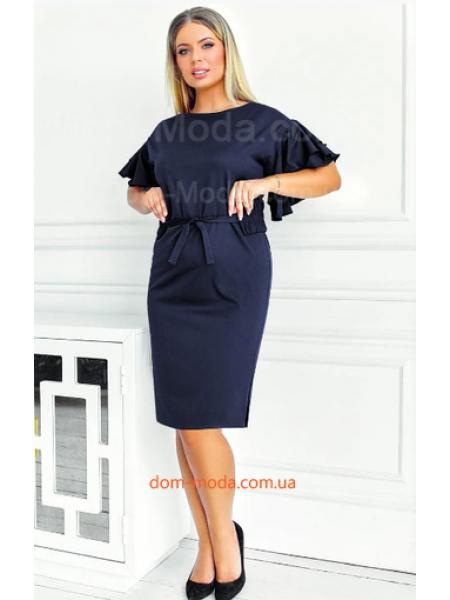 Нарядное платье с поясом для полных
