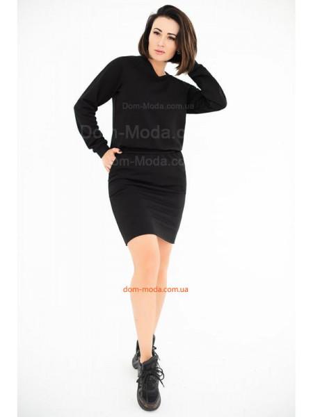 Коротке плаття із довгим рукавом