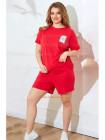 Костюм с шортами для полных девушек