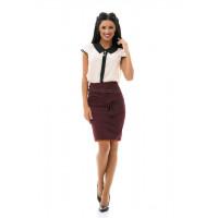 Короткая юбка карандаш для офиса