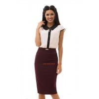 Модная юбка карандаш с завышенной талией