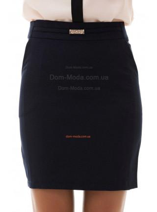 Короткая юбка с завышенной талией