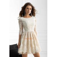Коктельне пишне плаття з гіпюру