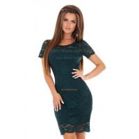 Стильное нарядное мини платье из кружева