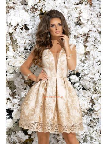 Женское нарядное платье с подъюбником