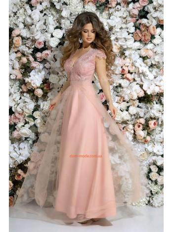 Длинное вечернее платье с пышной юбкой на выпускной