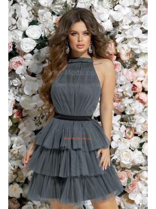 Вечернее платье с пышной короткой юбкой