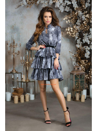 Коктейльное платье в леопардовый принт