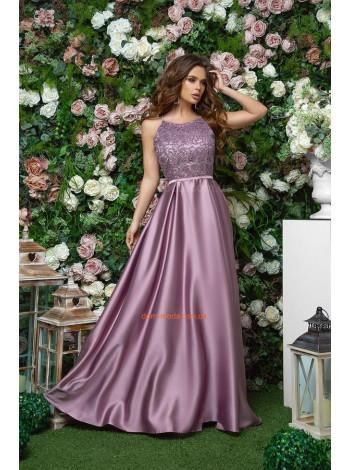 Женское вечернее макси платье с пышной юбкой