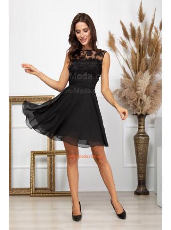 Летнее шифоновое платье с кружевом