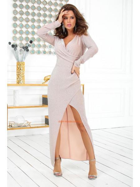 Блестящее платье в пол