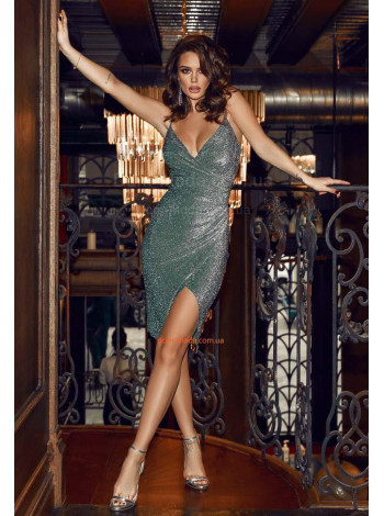 Вечернее платье из люрекса
