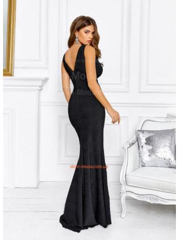 Вечернее платье с люрексом в пол