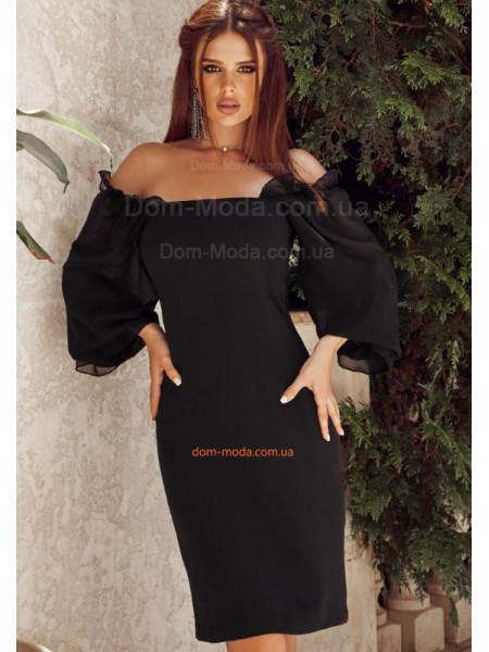 Елегантне плаття з шифоновими рукавами