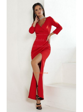 Платье с вырезом на ноге длинное