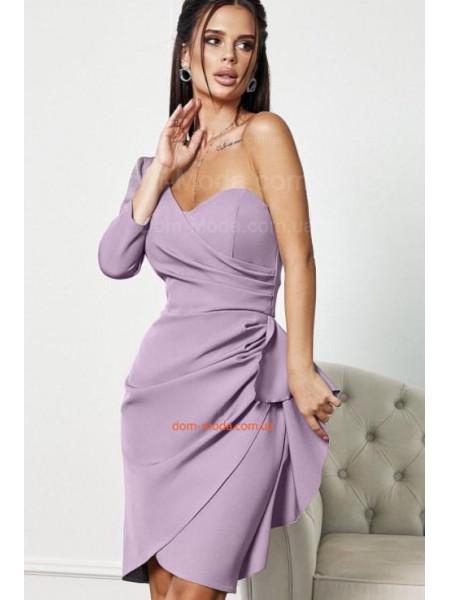 Вечірнє плаття з одним рукавом