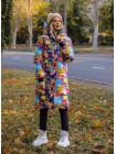 """Молодіжне модне пальто """"Мозаїка"""""""