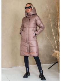 Зимова жіноча куртка пальто на синтепоні