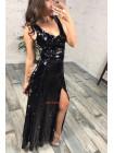 Платье с пайетками в пол