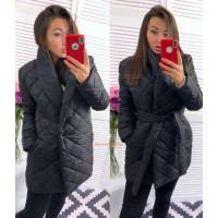 Женская куртка удлиненная с карманами