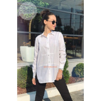 Белая удлиненная рубашка для женщин