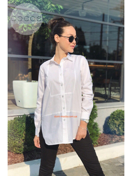 Біла подовжена сорочка для жінок