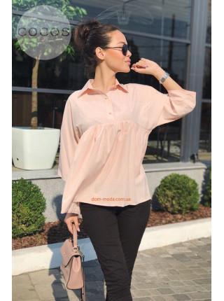 Женская блузка свободного кроя с регулируемым рукавом
