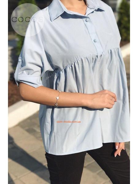Жіноча блузка вільного крою з регульованим рукавом