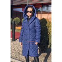 Жіноче демісезонне пальто з капюшоном