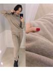 Спортивний жіночий однотонний костюм двійка