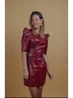 Модное женское платье из экокожи