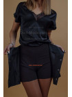 Женская кожаная юбка шорты