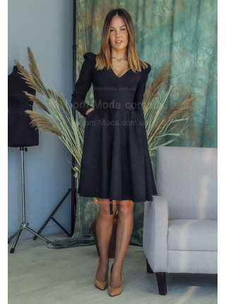Вельветова сукня з рукавами ліхтариками