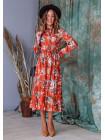 Струмливе плаття міді з квітковим принтом
