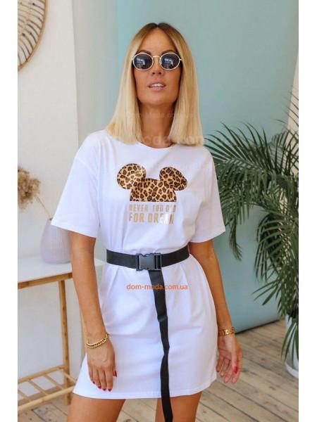 Плаття футболка з поясом