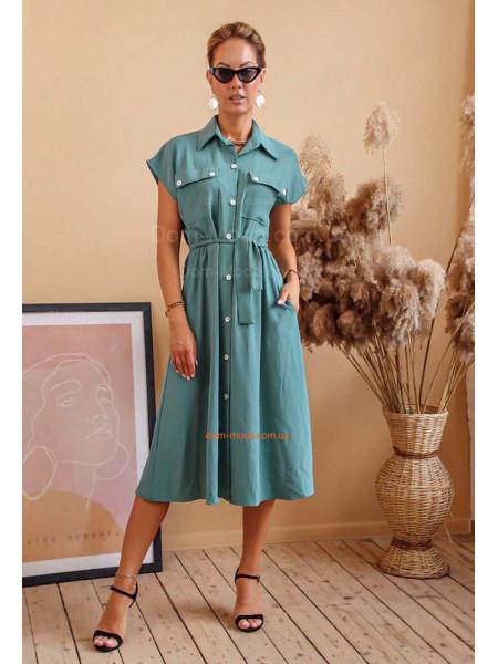 Плаття халат на гудзиках