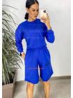 Женский спортивный костюм с шортами и укороченным худи