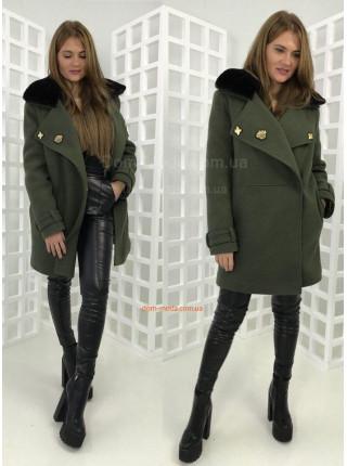 Зимнее пальто милитари